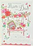 Carte de vœux (jj3323) Inscription Mum and Dad anniversaire–Balancelle de jardin–en aluminium et finition métal