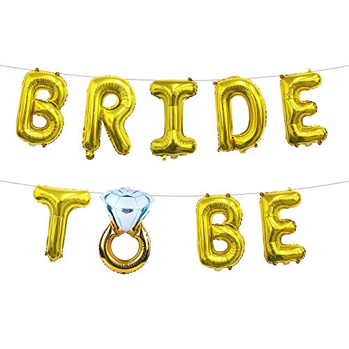 Globo de película de aluminio carta de oro rosa pulgada anillo de diamantes de novia virgen paquete de cumpleaños de película de aluminio anillo de diamantes de oro