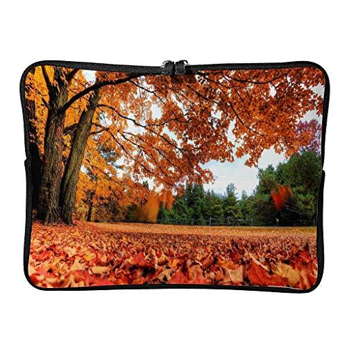 Regular otoño país bolsas para ordenador portátil lindo resistente al desgaste – escenario tableta caso adecuado para trabajo blanco 12 pulgadas