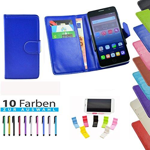 ikracase Handyhülle für TP-LINK Neffos C5 Max Smartphone Hülle Tasche Case Cover Schutzhülle Etui - 5 in 1 set in Blau
