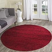 Safavieh Adirondack Collection ADR117F Red and Black Contemporary Round Area Rug (6' Diameter)