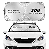 Visera Parasol del Parabrisas para Peugeot 308 Coche Windshield WindowsShades Solshades Fundas Flodibles Aislamiento Sol UV Protección Viseras Auto Accesorios Parasoles