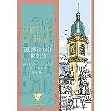 Clairefontaine 97505C - Un carnet de coloriage adulte de 48 pages imprimées 21x29,7 cm 120g, Villes