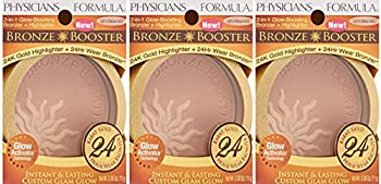 Physicians Formula Bronze Booster 2-in-1 Bronzer and Highlighter Light to Medium 0.38 Ounce  3 pack