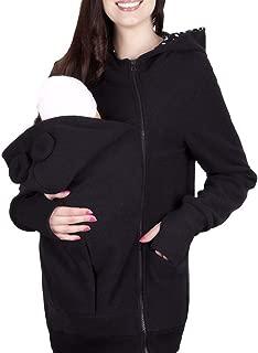 Fall Mom Outwear Sweatshirts Maternity Kangaroo Hoodies with Baby Carriers