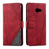 Galaxy A5 2017 Case, SONWO Premium Leather Flip Wallet Case