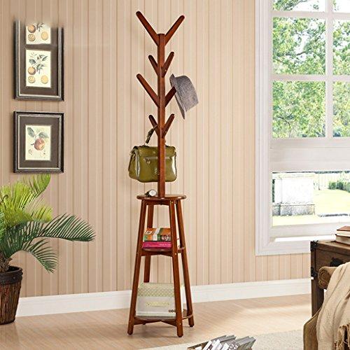 Young baby Porte-manteaux en bois massif américain Minimalist Hanger Living Floor Portfolio (Color : Wood color)