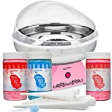 The Candery Premium Stainless Steel - Cotton Candy Machine and Floss Bundle - 3 Flavors (Strawberry,...