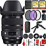 The Sigma 24-70mm f/2.8 DG OS HSM Art Lens comes with all the manufacturer accessories and a 4-year USA warranty along with a 19-piece bundle which includes 2x SanDisk Extreme 64GB SDXC Class 10 Memory Cards, 3 PC Filter Kit, Wrist Strap, Memory Card...