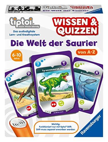 Ravensburger tiptoi 00078 Wissen und Quizzen: Die Welt der Saurier, Quizspiel für Kinder ab 6 Jahren, für 1-6 Spieler