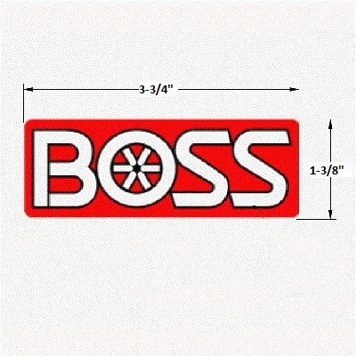 Boss Part # MSC13666 - ATV/UTV Undercarriage Logo Decal Sticker