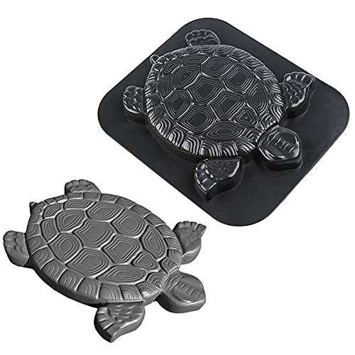 RUIYELE Concrete Cement Mold, Turtle Stepping Stone Mold, Tortoise Statue Mold, DIY Paving Mould for Garden Path Walkway Lawn Decor