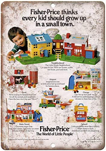 XIAODAN Fisher Price World of Little People Toy Old Vintage Metal Retro...