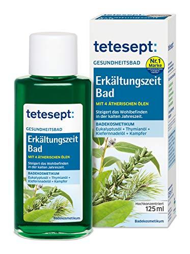 tetesept Erkältungszeit Bad – Wohltuendes Badekosmetikum für die kalte Jahreszeit – 1 x 125 ml