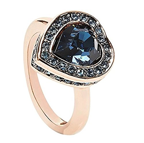 Guess Damen-Ring Herz Messing Glas blau Gr. 56 (17.8) - UBR28510-56