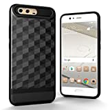 Zhouzl Fundas Huawei Huawei P10 Plus 3D Diamond TPU Funda Protectora combinada For PC Fundas Huawei (Color : Black)