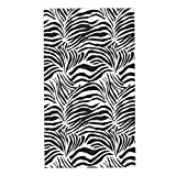 COFEIYISI Toallas de Manos Zebra Print, Rayas Zebra Animal Print Naturaleza Inspirado en la Vida Silvestre Moda Ilustración Simple, Blanco y Negro Toalla de baño pequeña para Viajar a casa 40x70cm