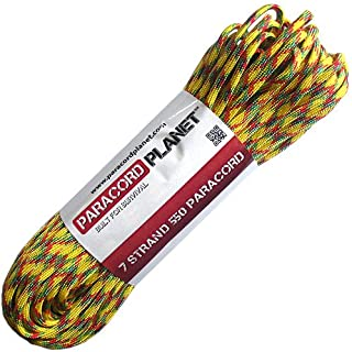 Paracord Planet 550-Pound Safety Type III Commercial Paracord Bright Colors