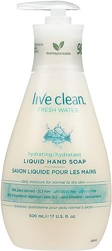 Live Clean Liquid Hand Soap, Hydrating Fresh Water, 500 mL