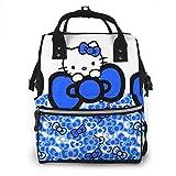 Bolsa de pañales Mochila - Azul Hello Kitty Multifunción Impermeable Mochila de viaje Maternidad Pañal Bolsas cambiantes