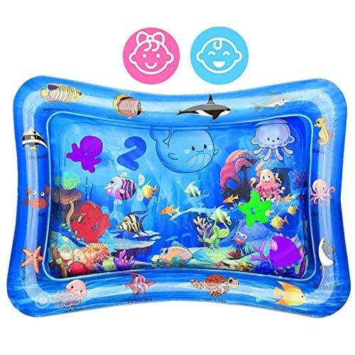 Wassermatte Baby, Baby Wasserspielmatte Spielzeuge 3 6 9 Monate, Sensorisches Spielzeug für Baby Frühe Entwicklung Aktivitätszentren, Spaßaktivitäten Das Stimulationswachstum für Ihre Baby(68 x 48 cm)
