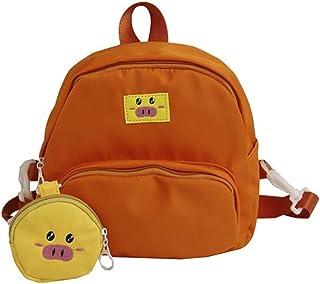 Women's Cute Backpack Travel School Shoulder Bag Daypack (Color : Orange)