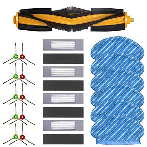 Komake Kit Spazzole Filtro e Scopa, 21 pezzi Accessori Di Ricambio Per Ecovacs Deebot Ozmo 920 950 Robot Aspirapolvere Set di Panni per Pulizia Filtri