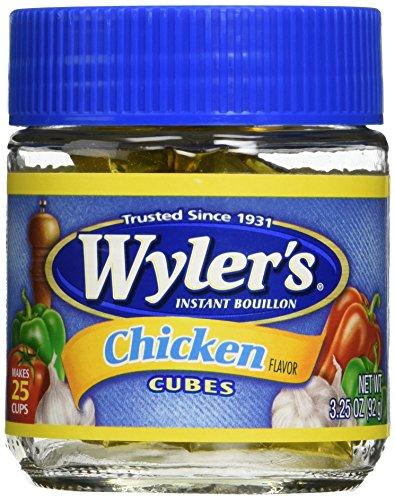 Wyler's Instant Boullion Chicken Flavor Cubes - Pack of 2 (3.25 Oz Each Bottle)
