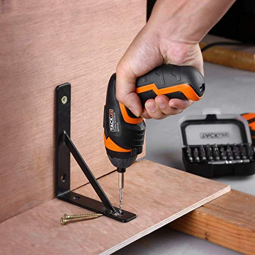 TACKLIFE SDP51DC Electric Screwdriver, 3.6V MAX 2.0Ah Li-ion Cordless Screwdriver Rechargeable, 4N.m, 33pcs Accessories, USB Fast Charging, With LED, for Mounting Furniture, Shelves, Mini-blind etc.