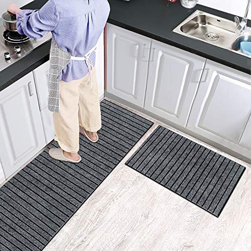 D&LE Non Slip Kitchen Carpet,Solid Color Superabsorbent Kitchen Mat Floor Mat,Sustainable Polyester Kitchen Runner Rug,Door Mat for Kitchen Bathtub Pad