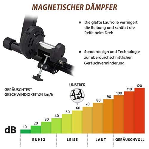 Yaheetech Stahl Rollentrainer Fahrrad Heimtrainer mit Magnetbremse, für Fahrräder 26″ bis 28″, Fahrradfahren zu Hause bis zu 150 Kg belastbar - 7