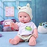 Cabina La Poupée Poupon Reborn Bébé Vinyle Souple en Silicone Réaliste Bébé Nouveau-né Jouets pour Enfants Garçons Filles 30cm (Vert)