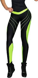 Patchwork Yoga Pants,Women Sports Gym Yoga Workout Mid Waist Running Fitness Elastic Leggings by-NEWONESUN