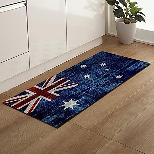 Tappetino da cucina rettangolare tappetino porta d'ingresso divano pavimento soggiorno tappeto bagno assorbente tappeto antiscivolo NO.2 60X90 cm