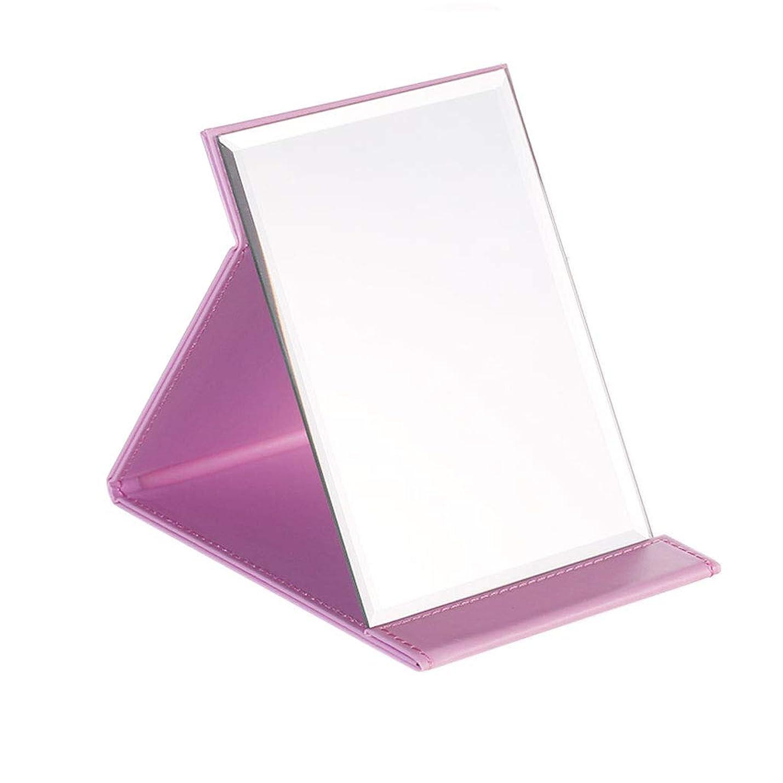 騒々しい十代爆発物JTWJ シンプルなファッション化粧鏡デスクトップ化粧鏡折りたたみミラー (Size : L)