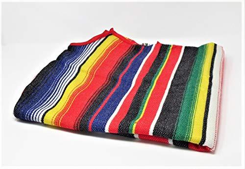 Aura Fancy Dress (TM) Disfraz de poncho mexicano para hombre