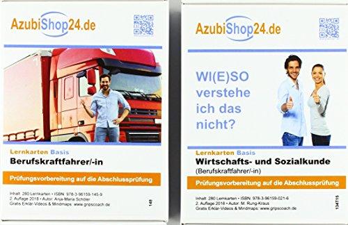 AzubiShop24.de Kombi-Paket Lernkarten Berufskraftfahrer/-in: Erfolgreiche Prüfungsvorbereitung auf die Abschlussprüfung