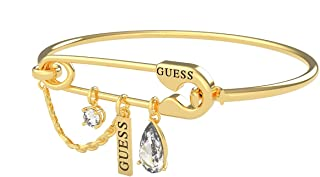 Guess UBB20105-S Stainless Steel Pin Shaped Charm Bangle - Gold