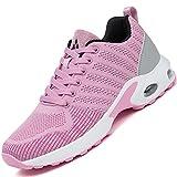 Mishansha Air Zapatos de Correr Mujer Respirable Zapatillas de Running Femenino Antideslizante Calzado Casual Sneakers Caminar Rosa N Gr.37