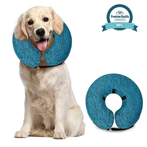 MIDOG Pet Inflatable Collar for After Surgery,Soft Protective Recovery Collar Cone for Dogs and Cats to Prevent Pets from Touching Stitches, Wounds and Rashes