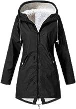 $22 » Ulanda Women's Winter Warm Coat Hoodie Plus Size Hooded Windproof Overcoat Fleece Outwear Jacket with Drawstring