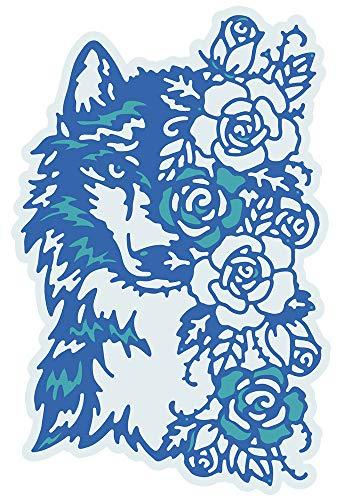 Gemini Elements Stanzschablone, Motiv: Floraler Wolf