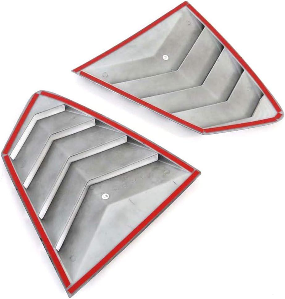 AODHXZ 2pcs Exterior Daily bargain sale ABS Rear Triangle Tri Shutters Cover Miami Mall Window
