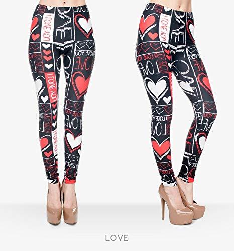 MAOYYMYJK Russische stijl Vuur vlam afdrukken Leggings Punk Vrouwen Legging Stretchy Broek Casual Broek Womens Leggings