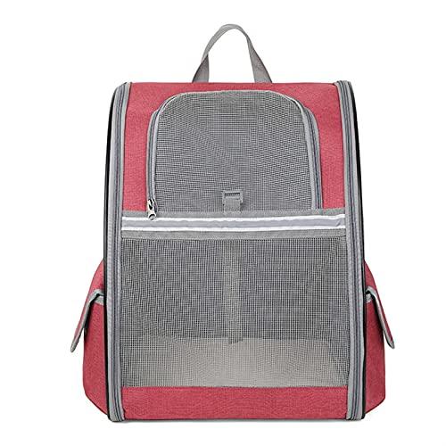 IGEANEI Bolsa para Mascotas Malla Transpirable Bolsa de Pet Pet Cat Dog Backpack Gato Plegable Gato Llevar Bolsa Hombro Mochila Mascota Outdoor Travel Port Portador de Mascotas (Color : Red)