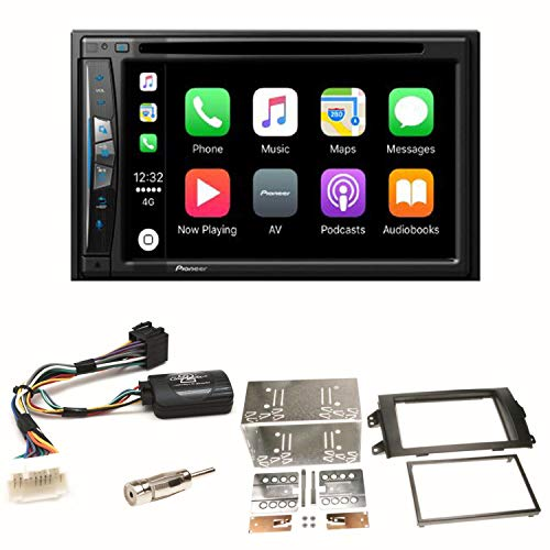 Pioneer z610bt Navegación CarPlay USB CD DVD Bluetooth MP3 WMA Radio de Coche de 2 DIN naviceiver Juego de Montaje para Suzuki SX4 Fiat Sedici