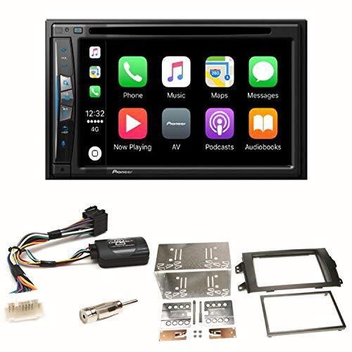 Pioneer z610bt Navegación CarPlay USB CD DVD Bluetooth MP3WMA Radio de Coche de 2DIN naviceiver Juego de Montaje para Suzuki SX4Fiat Sedici