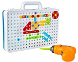 Drill & Design Creative Play Educational Toy With Real Toy Drill - Mosaic