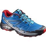 Salomon Wings Pro 2, Zapatillas de Running para Hombre, Azul (Hawaiian Surf/Black/Barbados Cherry), 40 2/3 EU