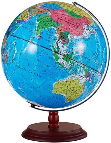 SPRINGHUA. Entdecken Sie die Welt Schwebender Globus Kugel Karte Globus mit LED-Leuchten Weltkarte Desktop-Dekoration Blue Earth, Modell 12 Zoll
